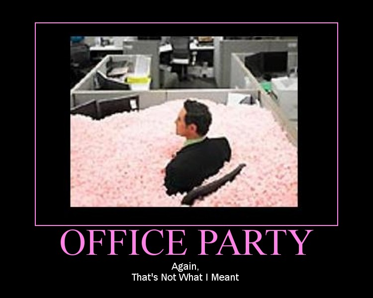 Office Party by dburn13579 Office Work Poster