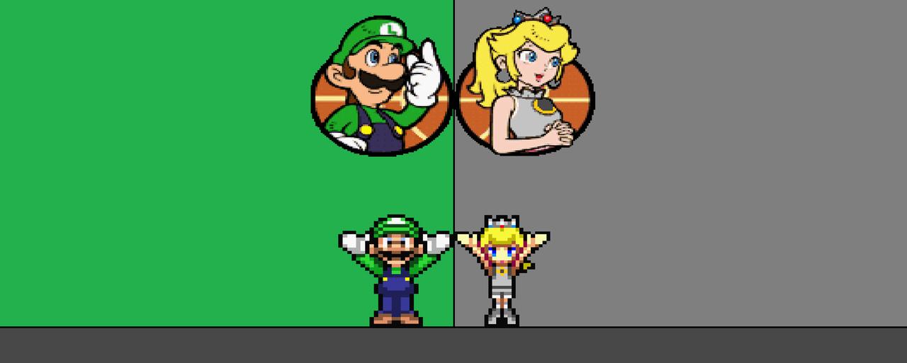 Luigi and princess sierra in mario hoops 3 on 3 by mewmaster1997 on