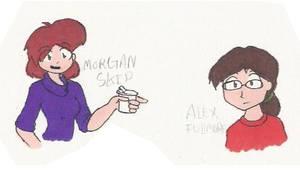 Morgan and Alex by AurePeri