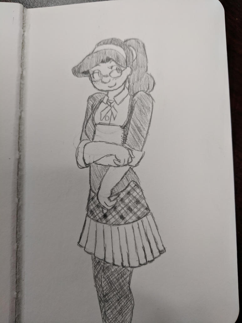 Kylee, school girl chic [sketch] by AurePeri