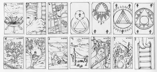 Wood - Suit for the Mercurial Travel Tarot