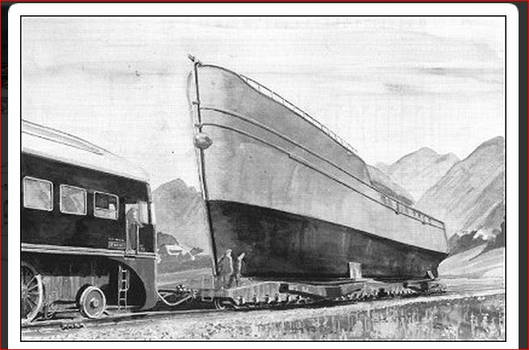 Breitspurbahn ship carrier.