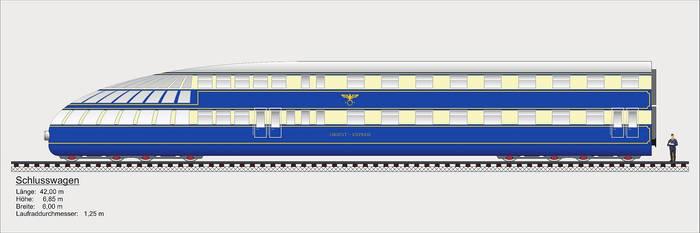 Breitspurbahn express tail wagon.