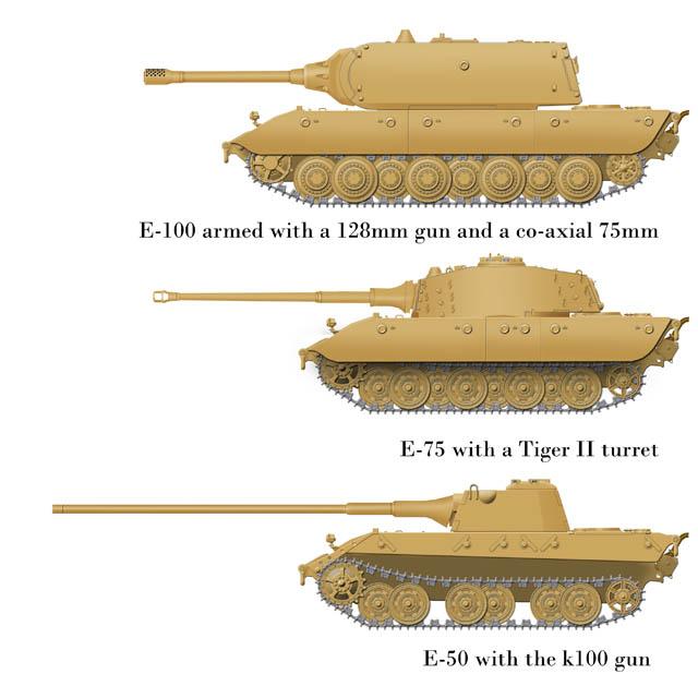 E 50 E 75 And E 100 German E Series Tanks By