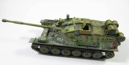 ASU-85 russian airborne tank. by FutureWGworker
