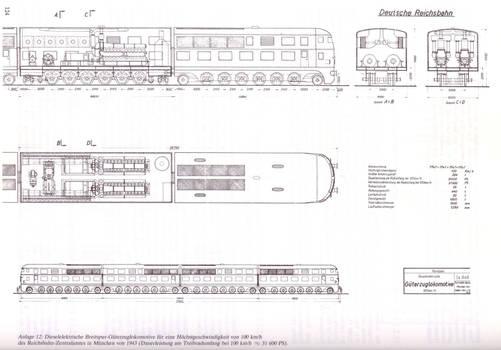 Breitspurbahn diesel-electric locomotive.