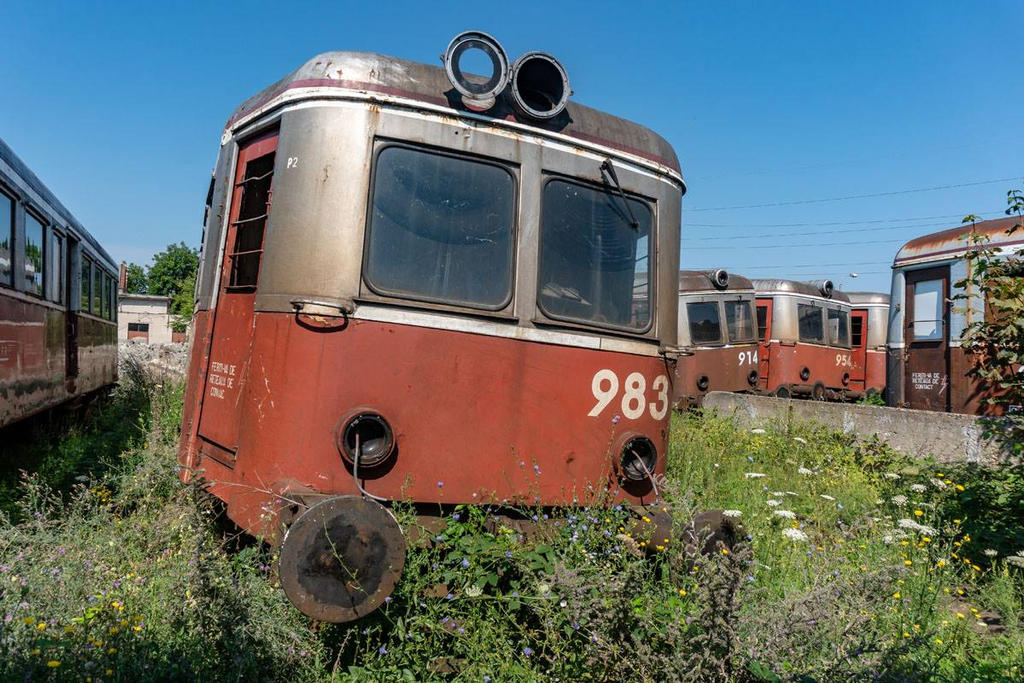 Abandoned CFR Class 77 Railcars, Timisoara. by FutureWGworker