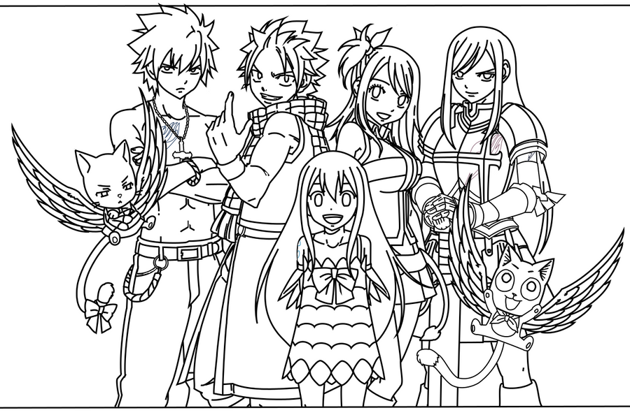 Fairy Tail Outlines By Shiroichi Chan