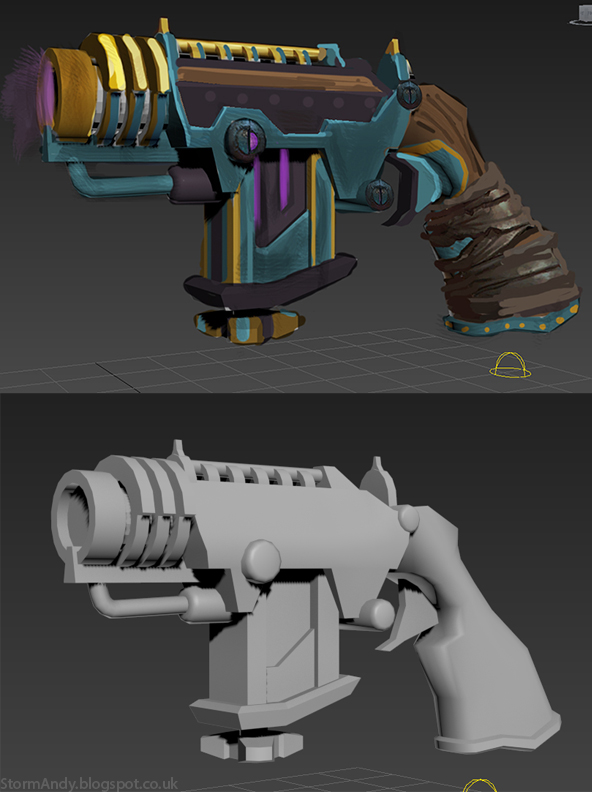 Boltgun WIP texture concept and Model by StormAndy