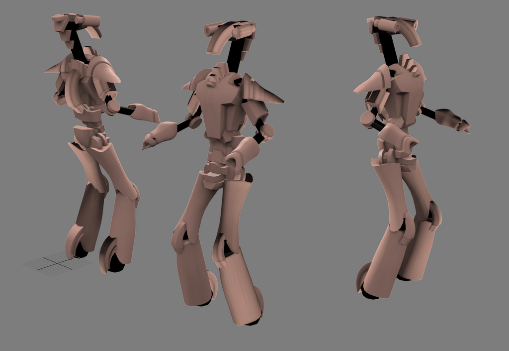 Droid model WIP 1 by StormAndy