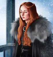 Sansa (COLOR) by Asaminert