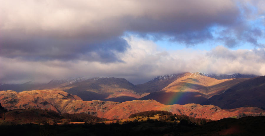 Rainbow in the fells by scotto