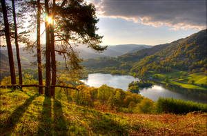 Lake District - Evening at Rydal Water by scotto