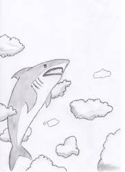 Shark in the sky by Spyhamschter