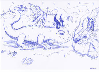 Snow dragon by Spyhamschter