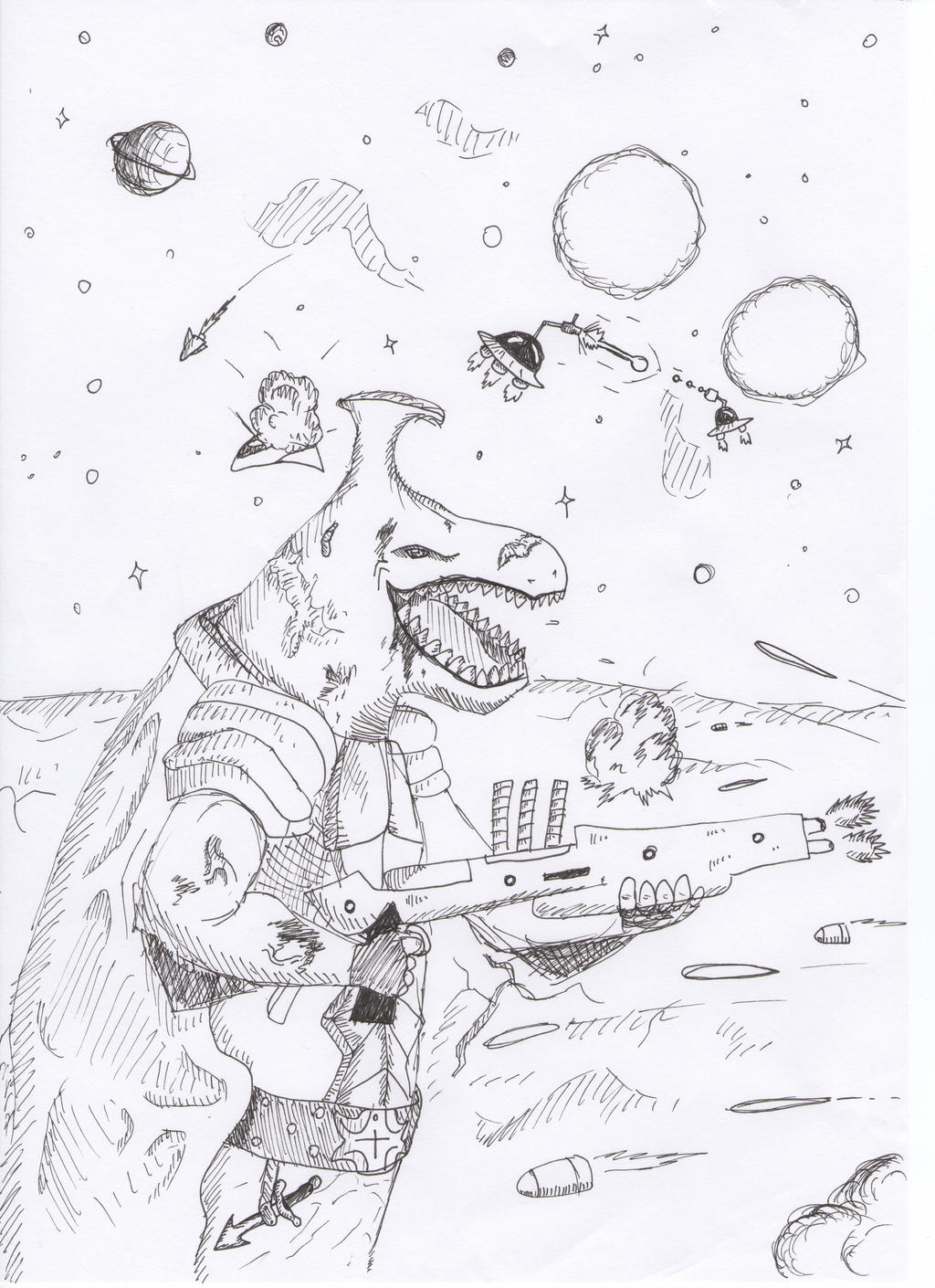 Dinosaur,space yeah by Spyhamschter