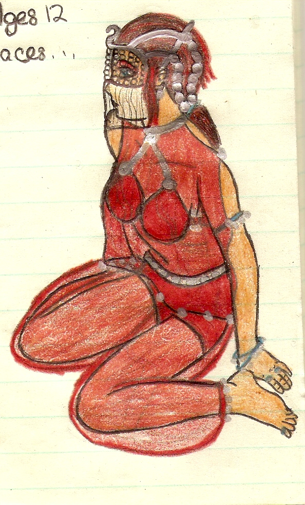 Garnet kneeling while dancing by TwinWolfSister