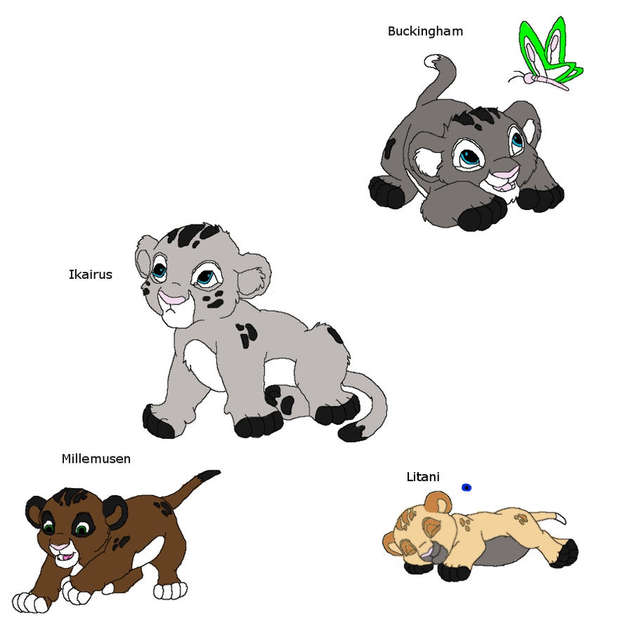 Nanuka and Aduors 1st litter by TwinWolfSister