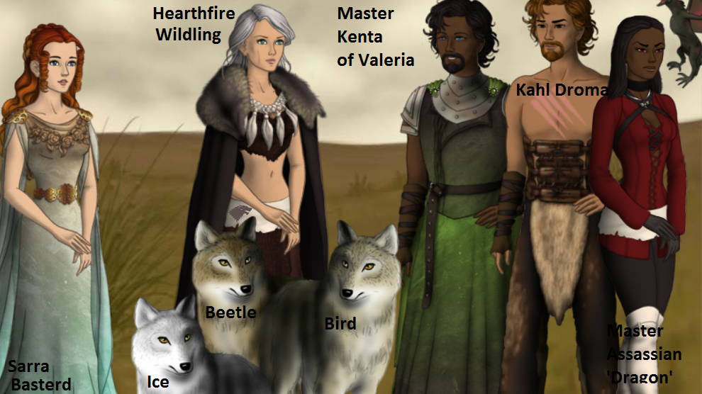 Game of Thrones RPG Characters by TwinWolfSister