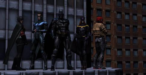 Bat Family by lonelygoer