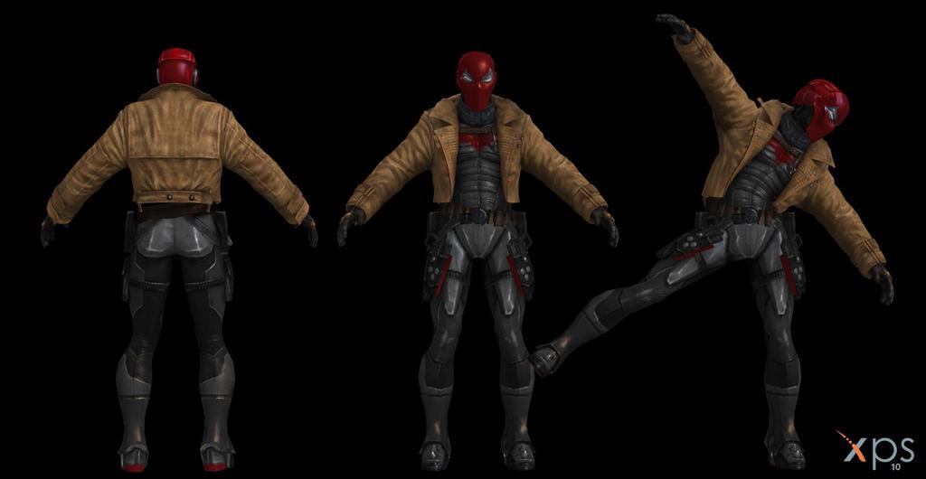 Red Hood Joker Injustice Red hood mesh mod wip by