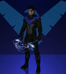 Nightwing (upgraded suit) by lonelygoer