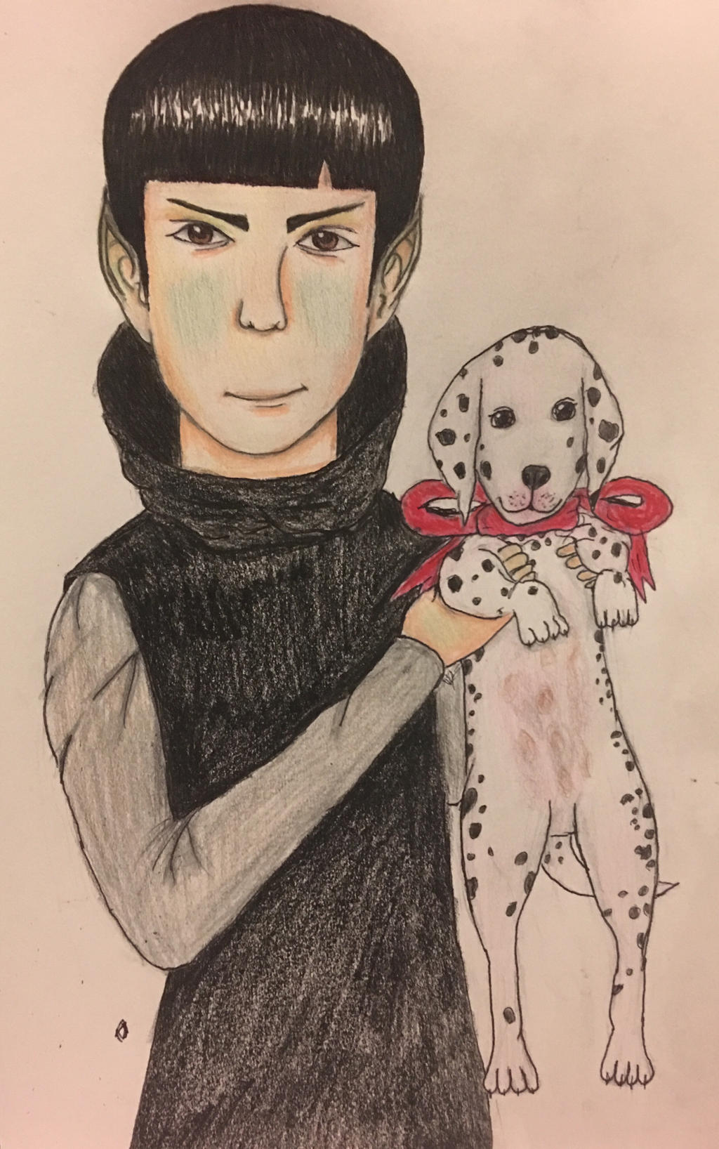 Spock and his Dalmatian Oscar by ChuckyAndy