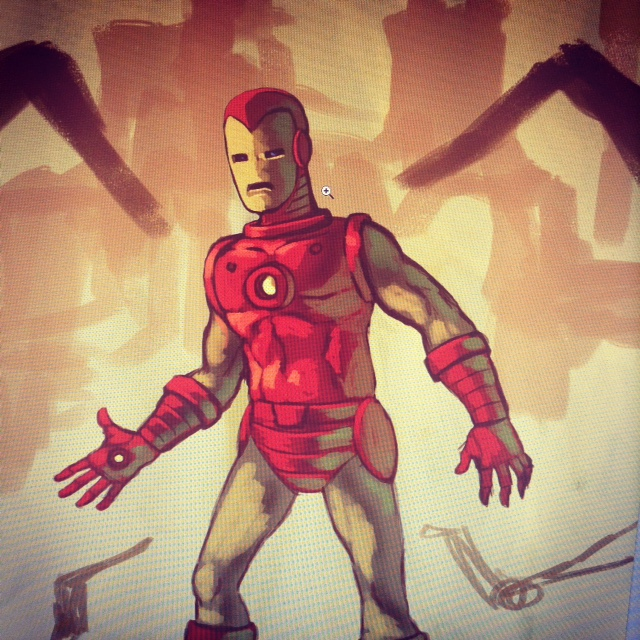 WIP Iron Man classic by redeve
