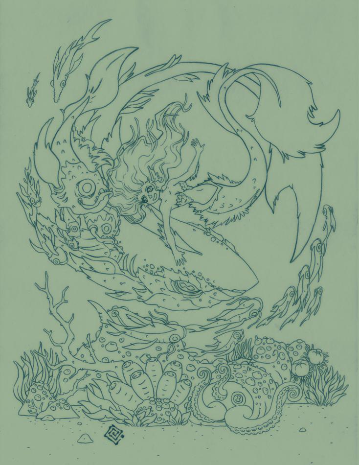 Mermaid lines by redeve