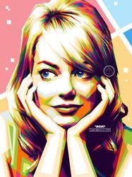 Emma Stone Popart by ugigifari