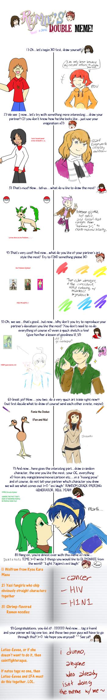 Double Meme with natsudoki by TheLimeTangerine