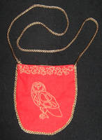 Red Owl bag by numberjumble