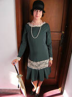 green 1920's style dress by numberjumble