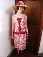 flowery 1920s dress by numberjumble