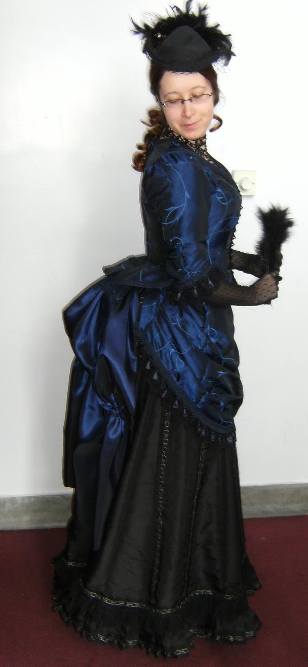 victorian bustle dress - side by numberjumble on DeviantArt