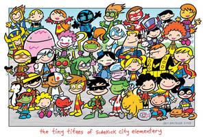 Tiny Titans cast shot Comic DC by wallxart