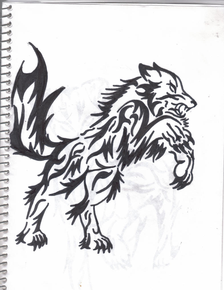 Rage Wolf Tribal Tattoo by xMomoxHinamorix on deviantART