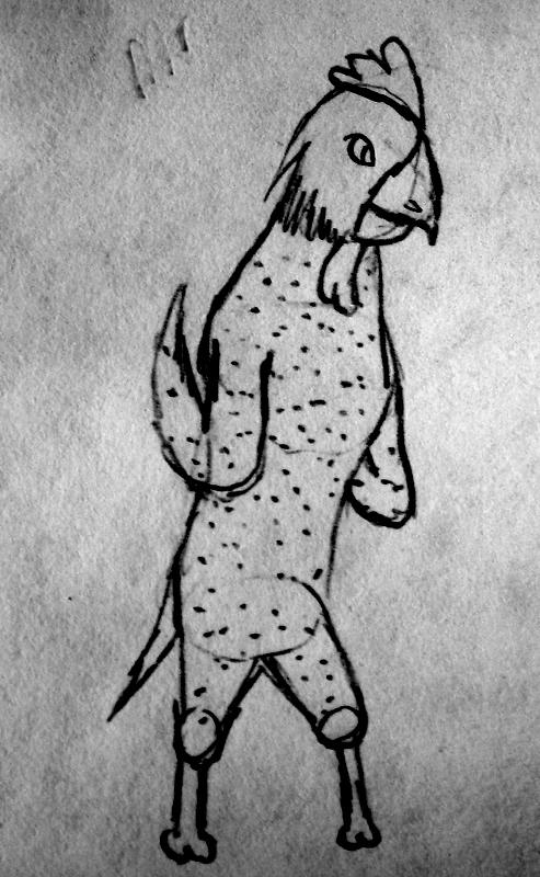 chicken man by dragodino112