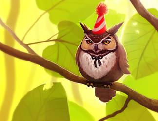 Birthday Owl by Dvolution