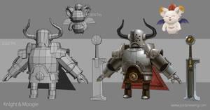 Knight and Moogle - Construction Shot by Dvolution
