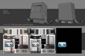 Robo - Wireframe and Textures by Dvolution