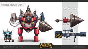 Digger Rumble Skin - LoL Fan Art by Dvolution