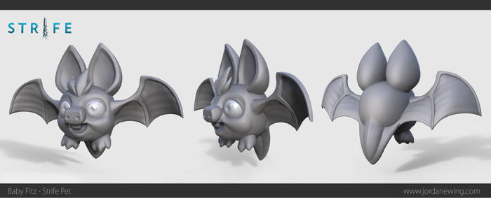 Baby Fitz - Strife Pet - High Poly