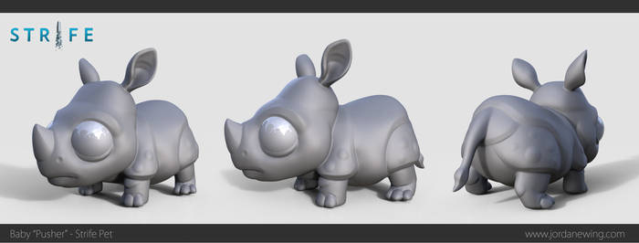 Baby 'Pusher' - Strife Pet - Sculpt