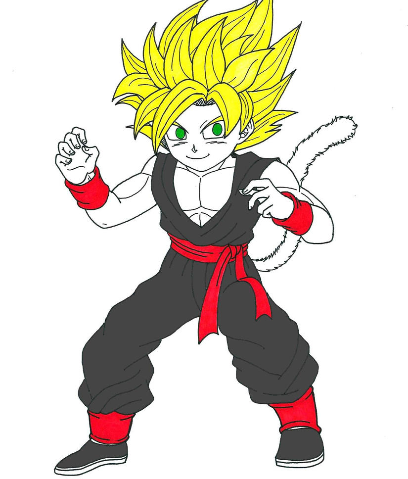 Kid Kuro Super Saiyan By XXWarrior AngelXx