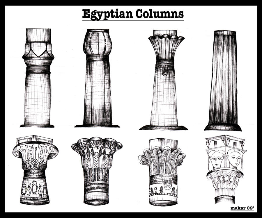 Ancient Egyptian Architecture Columns