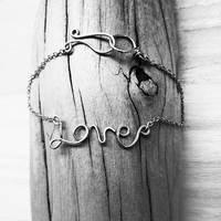 'Love' Handmade Charm chain bracelet by TheWingedBoggart