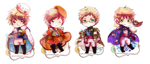 Chibi Set 3 .:Commission:. by GYRHS