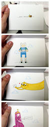 Adventure Time Birthday Card by reb-chan