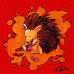 Knitting Hedgehog
